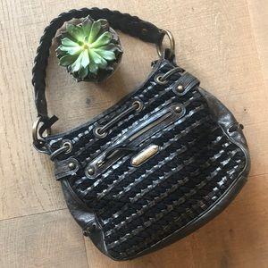 Isabella Fiore Leather & Velvet Hobo Bag  EUC!